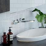 Contura Wall Basin/Bath Set Chrome